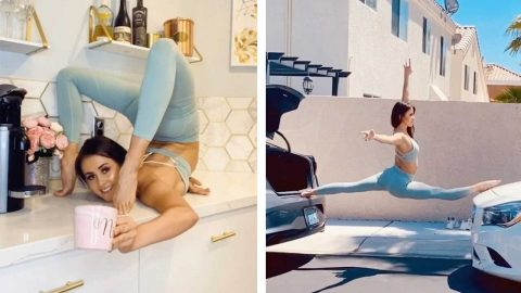 CIRCUS PERFORMER FINDS UNIQUE WAYS TO PRACTICE AT HOME Image