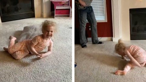 THIS VIDEO VIDEO TAKES AN UNEXPECTED TURN WHEN THIS LITTLE GIRL SHOUTS THE 'F' WORD Image