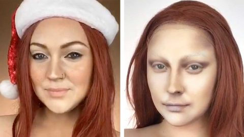 MUM-OF-ONE CURES ISOLATION BOREDOM BY TRANSFORMING HERSELF INTO CELEBRITIES Image