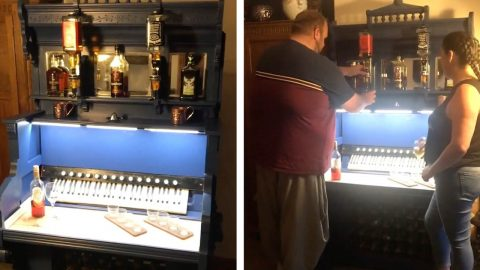 PARENTS TURN OLD ORGAN INTO MUSICAL BAR FOR JUST £100 Image