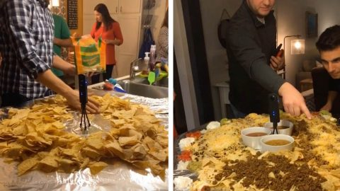 FAMILY CREATES HUGE NACHO TABLE EVERY SUMMER Image