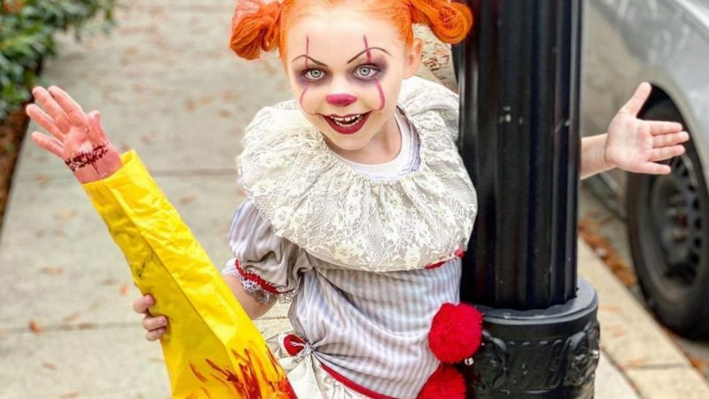 HORROR MAD SEVEN-YEAR-OLD GIRL RECREATES GORY FILM SCENES FROM THE EXORCIST TO CHUCKY Image