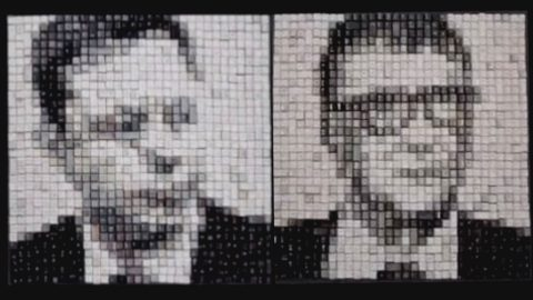 ARTIST CREATES AMAZING PORTRAITS OF BILLIONAIRES USING KEYBOARD KEYCAPS Image