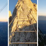 Huge ladder strung between two mountains looks like the real stairway to heaven