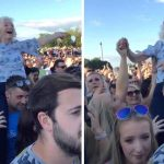 Not Your Ordinary Pension Day Trip: This Gran Was Caught On The Shoulders Of A Festival Goer At Trnsmt