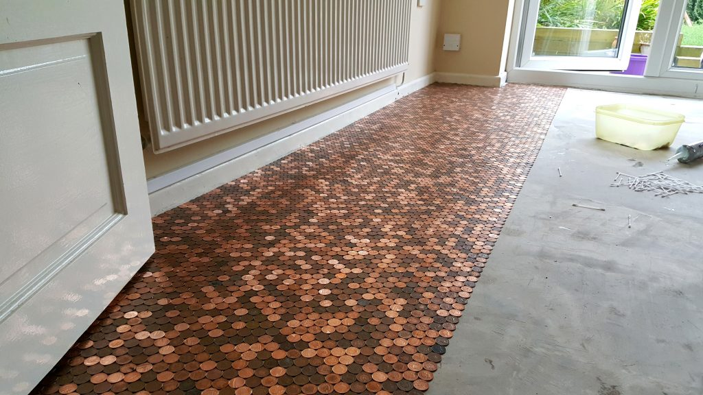 This Guy Made A Floor With Pennies And