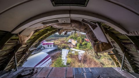 Where planes go to die: Eerie pictures from extraordinary plane graveyard Image