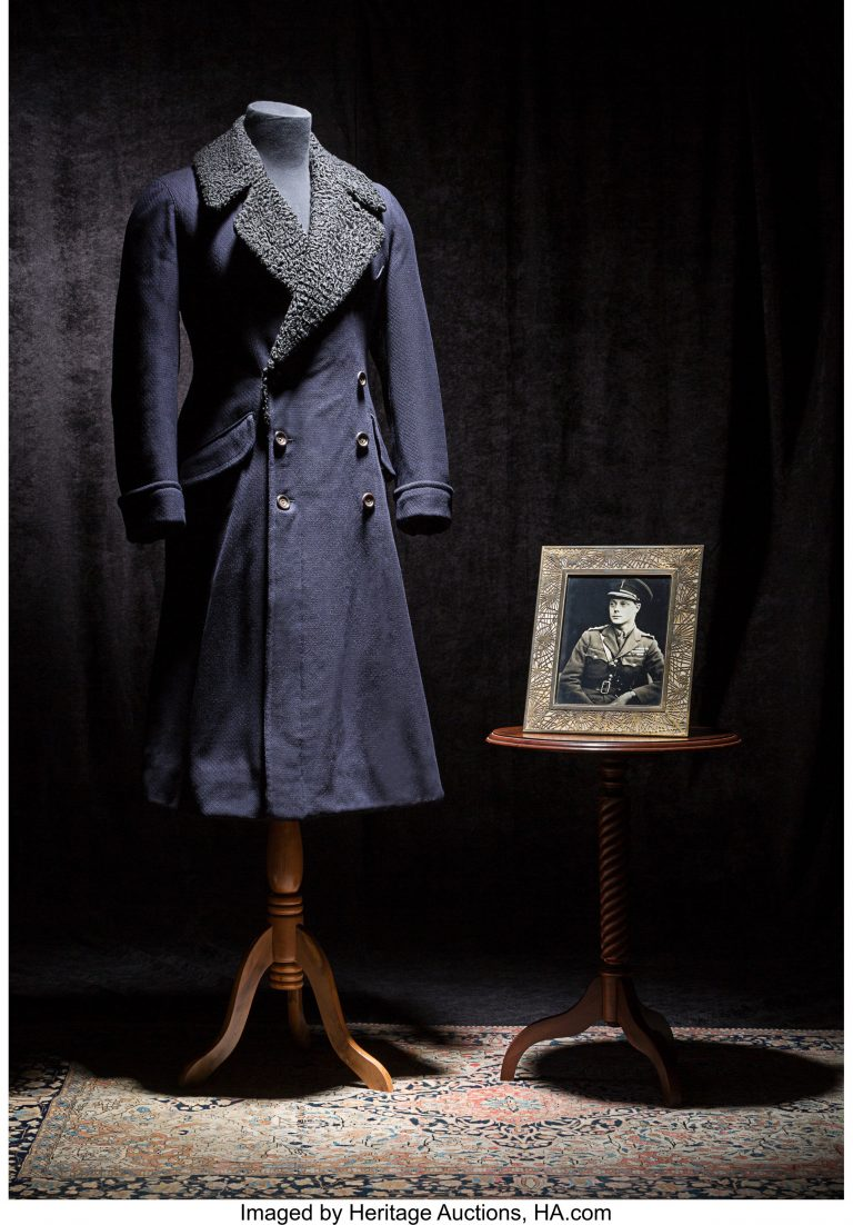 Regal english fur-lined coat fit for a king sells for $5,000 ...