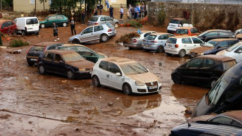 Floods in Athens – right after catastrophic wildfire Image