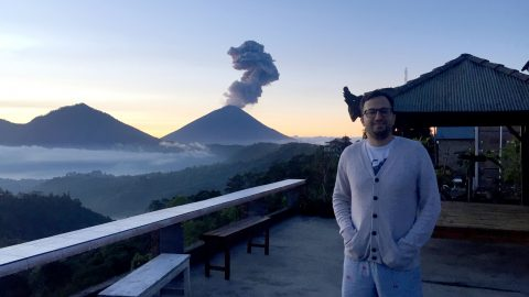 Now That's An Int-eruption: Honeymooners Blown Away When Romantic Sunrise Hike Was Interupted By Volcanic Activity  Image