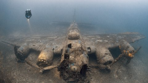 Family's searching over after resting place of hero WWII pilot finally discovered – 230ft underwater Image