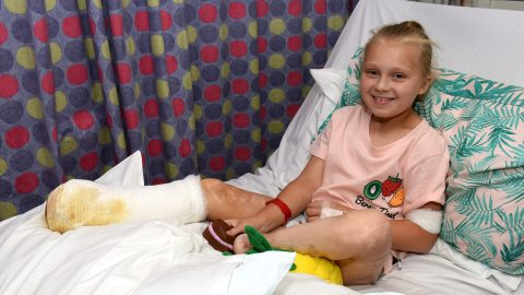 Schoolgirl loses both feet after getting mystery meningitis caused by swimming in sea Image
