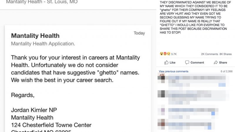Viral message where job seeker was rejected because of her 'ghetto name' is claimed to be hackers Image