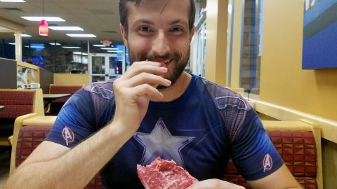 Ex-vegan loses half his bodyweight after switching to raw meat 'carnivore diet' of raw liver, mince and bone marrow Image