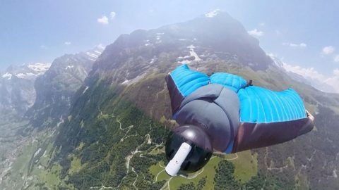 Vertigo inducing footage of this 360 wingsuit flight will make your head spin Image