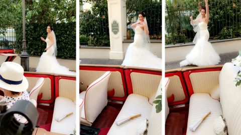 Kiki, do you love me? I do! Bride performs 'in my feelings' challenge in her wedding dress Image