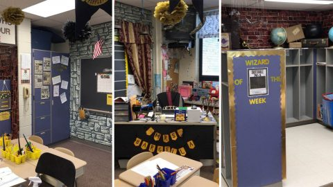 Harry Potter mega fan teacher transforms classroom into Hogwarts Image