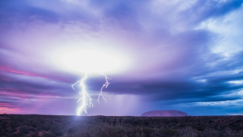 Thunderstruck! Australia's Uluru captured amid striking storm set Image