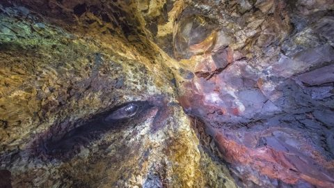 Inside the volcano: Stunning images of colourful caves in Iceland Image