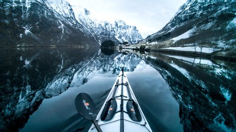 Stunning POV kayak footage shows crystal clear waters in Norways lakes and fjords Image