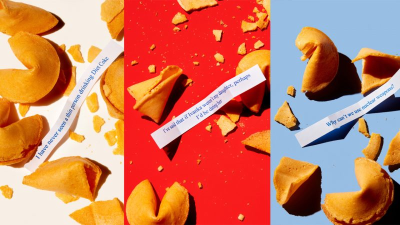 Creative turns Trump quotes into foreboding fortune cookie photo-series Image