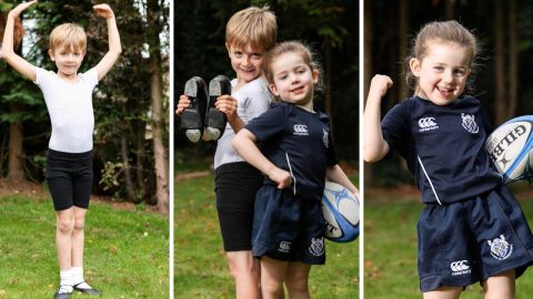 Brother and sister fight gender stereotypes as boy, 7, performs ballet and girl, 5, plays rugby Image
