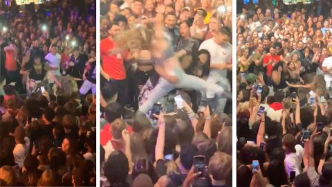 Bump And Grind! Pair Of Women Savagely Fight Each Other Mid-Concert Image
