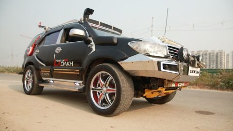 Indian man makes £8,700 modified SUV dance to entertain crowds Image