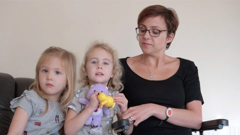 Mums MS went undetected for more than a decade despite clear signs - because she though it was a pulled muscle. Image