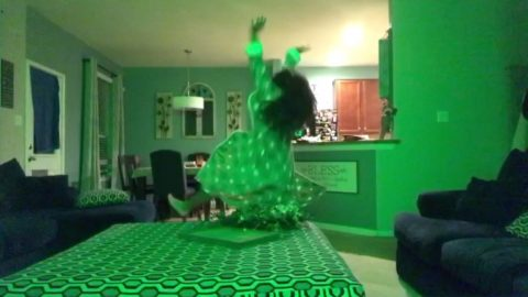 WATCH: Parents left in stitches with daughters hilarious dancing response to text message Image