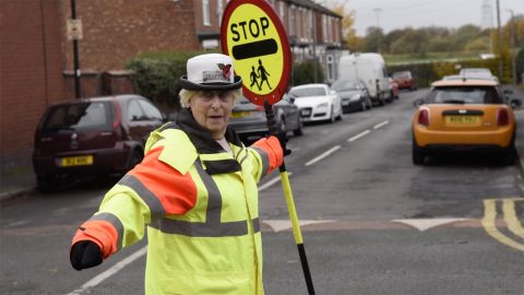 Britains longest-serving lollipop lady: 78yo gran still helps kids cross road after 48 years - and has no plans to quit Image