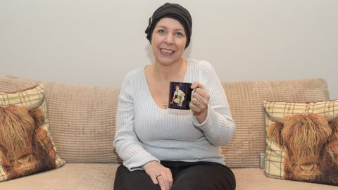 Saved by a cup of tea: Mum's breast cancer diagnosed after discovering tumour when she reached for evening brew Image