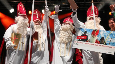 Rebel with out a claus! Ho-ho-hopeful Santa super fans battle it out to be crowned world's greatest father Christmas Image