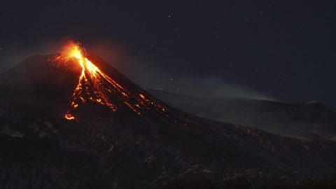 Wrath of the gods: Amazing time lapse footage shows Mount Etna eruption  Image