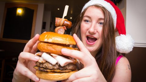 'Calorific' festive feast crams entire Christmas dinner including gravy-filled yorkshire pudding into burger Image