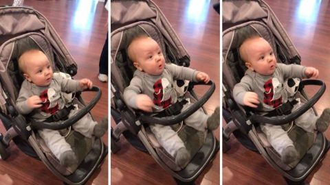 HILARIOUS VIDEO OF BABY'S REACTION TO HAIRDRYER Image