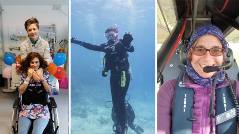 Paralysed mum learns to fly, professionally scuba dive and more to prove son that her life wouldn't be 'c*** and useless' Image