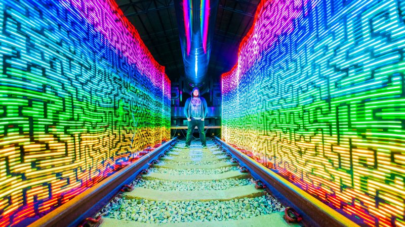 Amazing light paintings show different destinations in beautiful technicolour Image