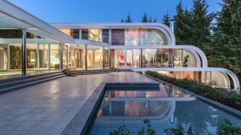 Glass and steel waterfall home looks like modern masterpiece and on the market for cool £10 million gbp Image