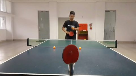 Guy shows off mad ping pong trick shot skills Image