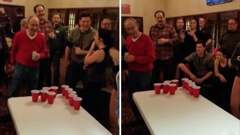Game On! 85-year-old Identical Twins Celebrate Birthday With Epic Beer Pong Game Image