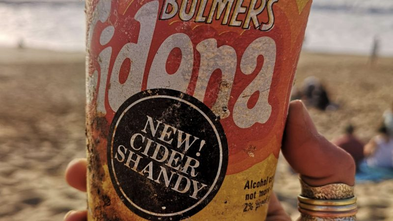 Sea-cider Attraction! Shocked Conservationist Finds Shandy Can From The 1970s Washed Up On Beach Image