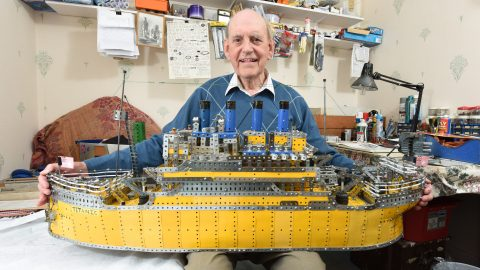 Toytanic! Pensioner Spends Three Years Building Epic Model Of Doomed Ocean Liner Using Nothing But Meccano Image