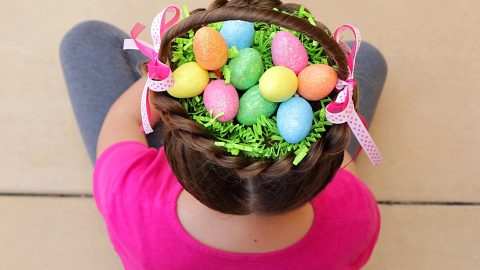 The Braidy Bunch! Creative Mum Transforms Daughter's Hair Into Amazing Easter Basket – Complete With Eggs Image