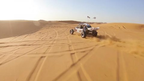 Pilot Captures Awesome Drone Footage Of Dune Buggies Racing In The Desert Image