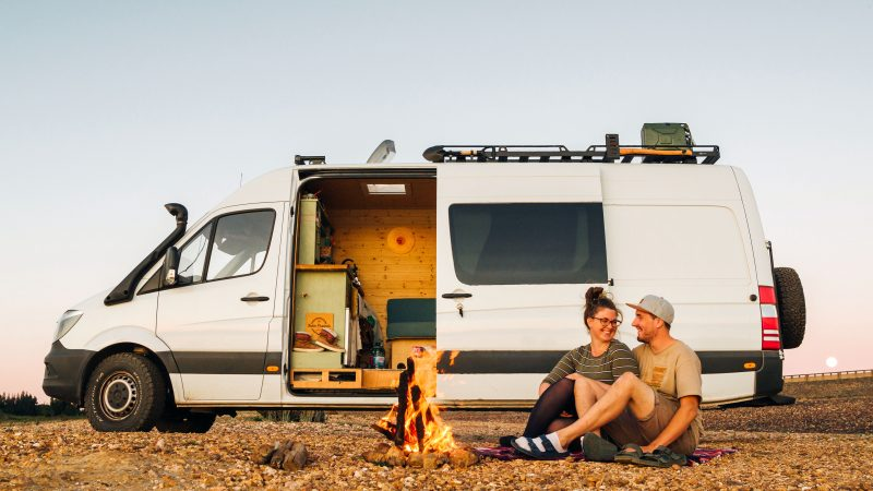Couple Quit Jobs, Sell Possessions And Live In A Van Image