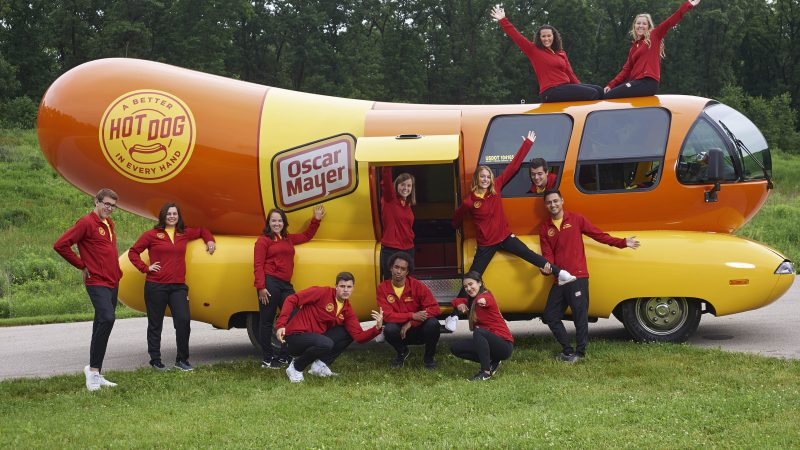 Onto A Wiener! Friends Travel Through 25 American States Onboard A Giant Hot Dog Car Image