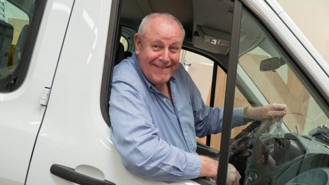 Rightvanman! Eco businessman becomes first person in europe to build fleet of commercial electricvans – and already has orders from ambulance services, taxi firms and delivery companies Image