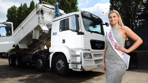 She's Trucking Gorgeous! Stunning Pageant Queen, 19, Is Hgv Trucker By Day – Getting Hands Dirty Washing And Painting Lorries In The Yard Image