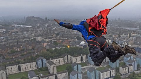 Incredible Video Shows Base Jumpers Launching Off Arthurs Seat Image